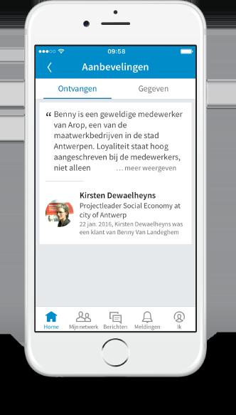 case stad antwerpen maatwerkbedrijven smartphone linkedin 2